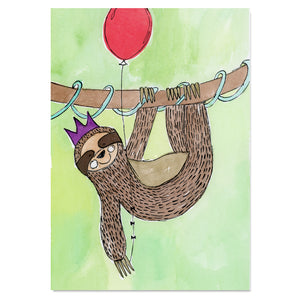 EM Art Print - Sir Snuggles the Sloth