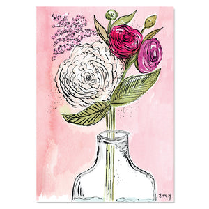 EM Art Print - Blooms Bottled