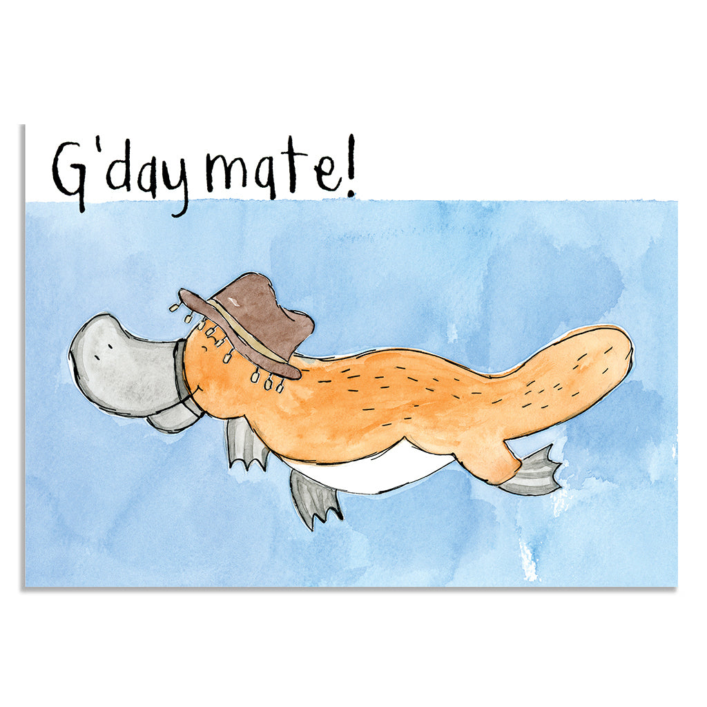 EM Card - Ozzy the Platypus - G'day Mate