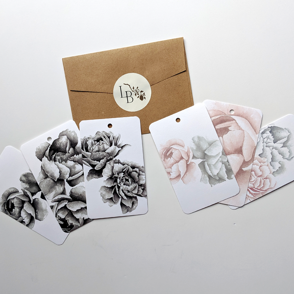 Lady Brndi Floral Gift Tag Set