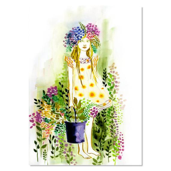 Art Print - Flower Nymph (unframed)