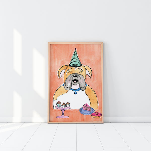 EM Art Print - Mr Jowls the Bulldog