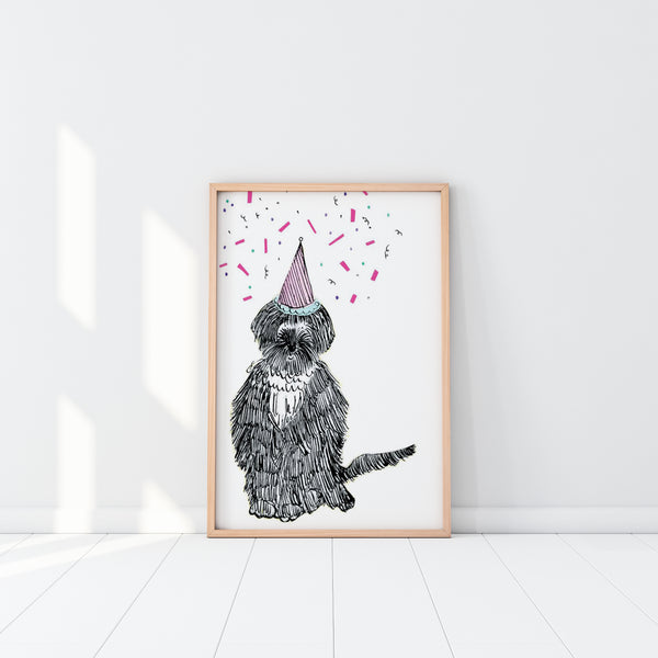 EM Art Print - Rupert the Shaggy Dog