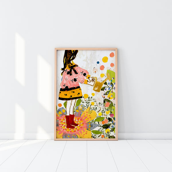Art Print - Watering with Love (unframed)