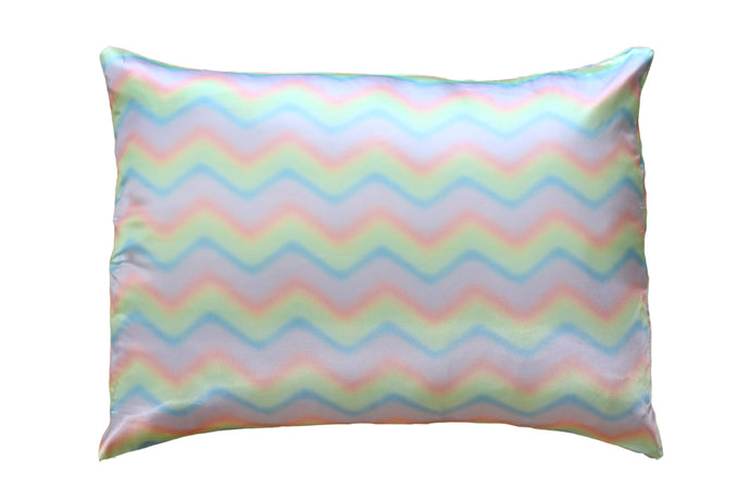 NEW Wavy Rainbow Satin Pillowcase 2 Pack