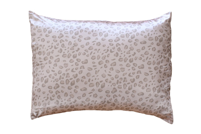 NEW Pale Leopard Satin Pillowcase 2 Pack