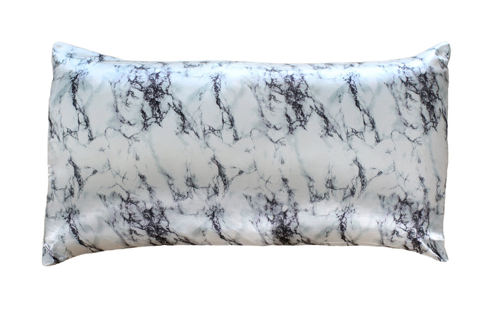 NEW Marble Print King-Sized Pillowcase Two Pack