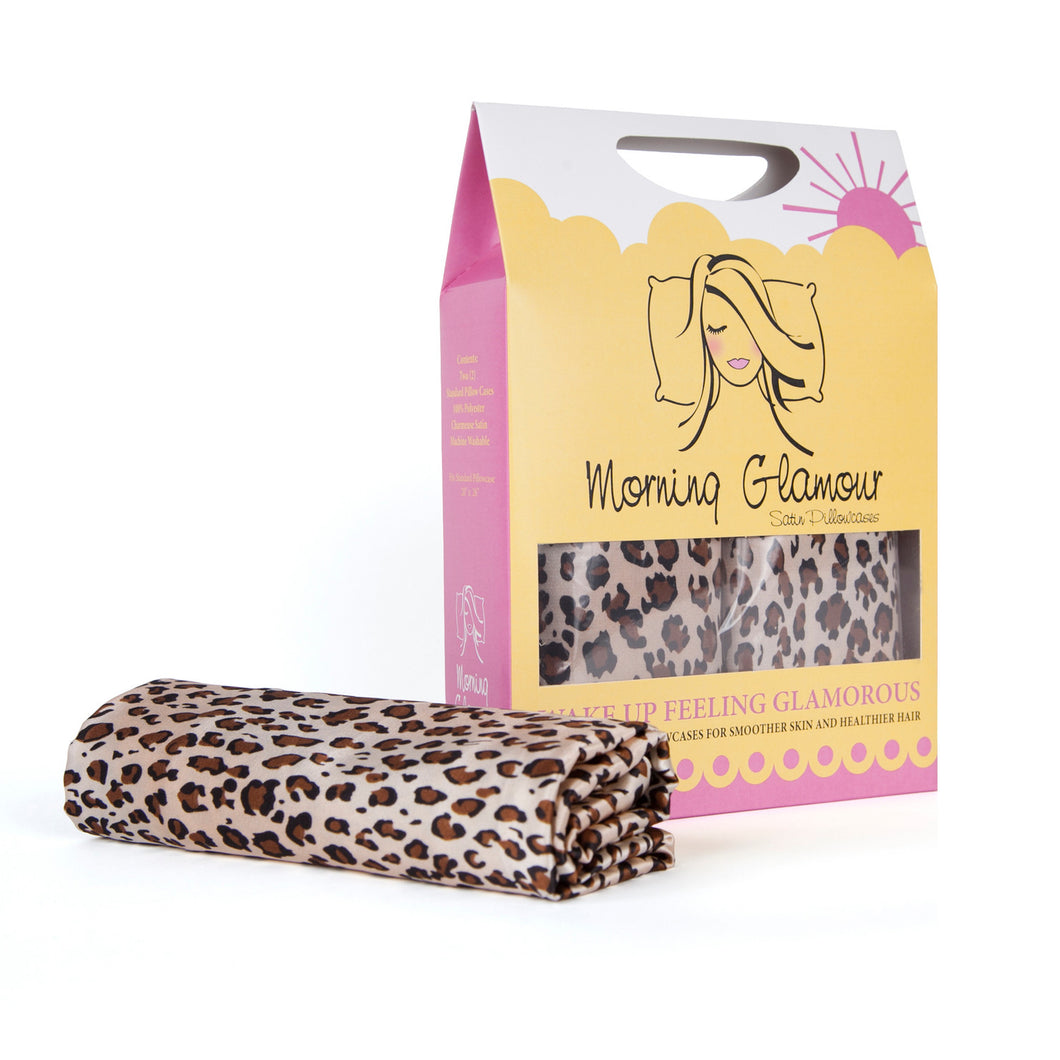 Leopard Satin Pillowcase 2-Pack