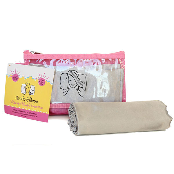 Silver Travel Bag Pillowcase Set
