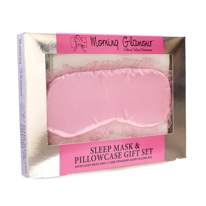 Pink Sleep Mask & Pillow Case Gift Set