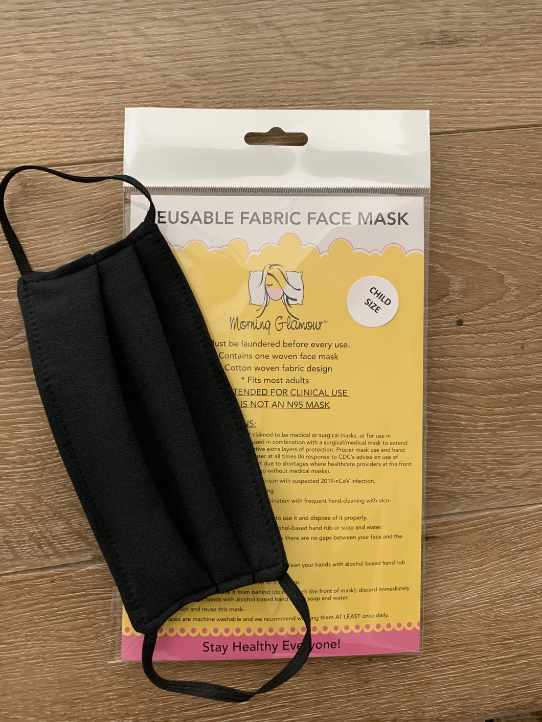 CHILD SIZE Reusable face mask