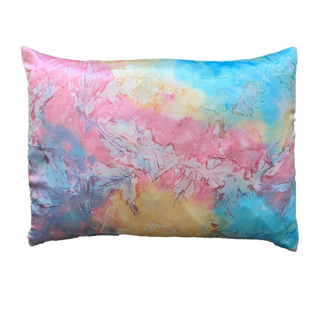 Rainbow Tie Dye Satin Pillowcase