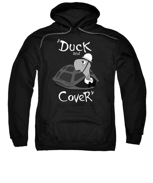 Duck And Cover - Vintage Nuclear Attack Poster - Sweatshirt