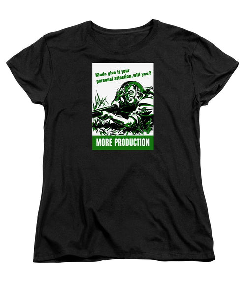 More Production -- WW2 Propaganda - Women's T-Shirt (Standard Fit)