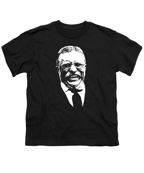 Teddy Roosevelt Laughing - Youth T-Shirt