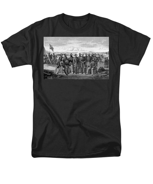 The Generals Of The Confederate Army - Men's T-Shirt  (Regular Fit)