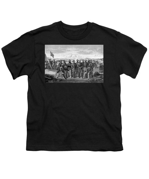 The Generals Of The Confederate Army - Youth T-Shirt