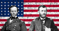 Generals Sherman and Grant American Flag