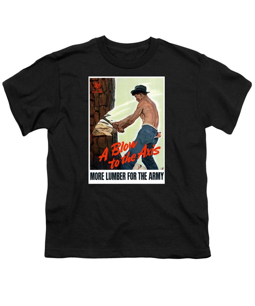 A Blow To The Axis - WW2 - Youth T-Shirt