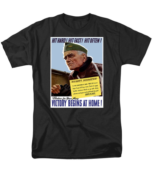 Admiral William Bull Halsey -- WW2 Propaganda  - Men's T-Shirt  (Regular Fit)