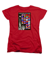 Allied Nations Fight For Freedom - Women's T-Shirt (Standard Fit)