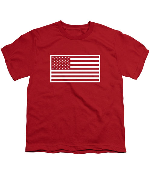 American Flag - Red And White Version - Youth T-Shirt