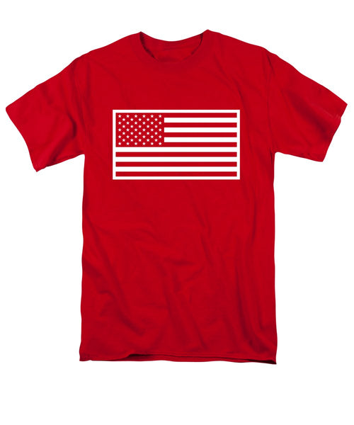 American Flag - Red And White Version - Men's T-Shirt  (Regular Fit)