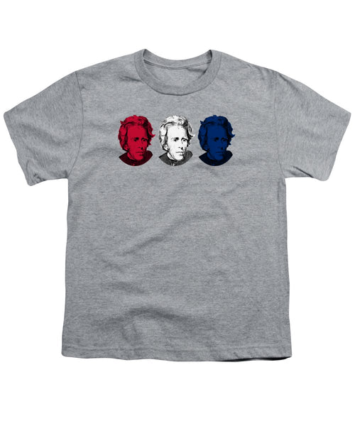Andrew Jackson Red White And Blue - Youth T-Shirt