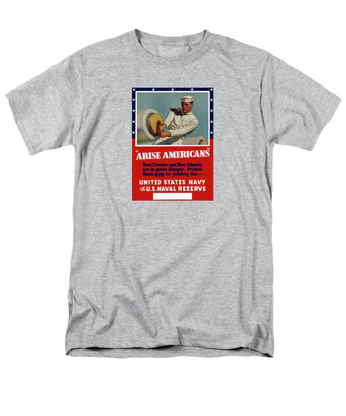 Arise Americans Join The Navy  - Men's T-Shirt  (Regular Fit)
