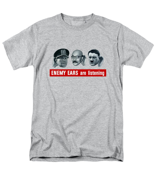 Enemy Ears Are Listening - Men's T-Shirt  (Regular Fit)