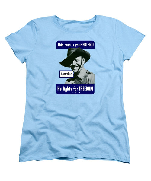 Australian - This Man Is Your Friend  - Women's T-Shirt (Standard Fit)