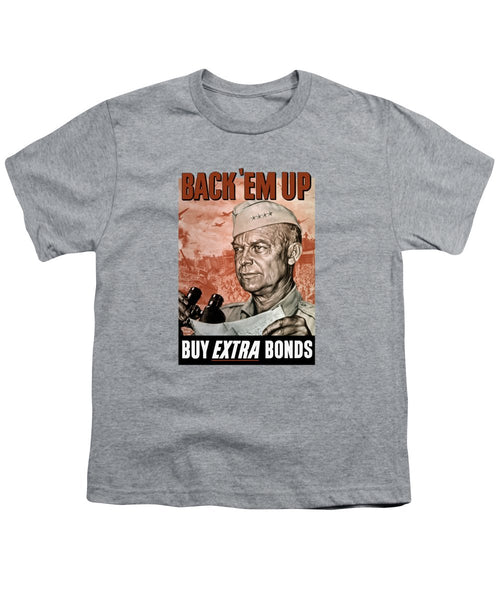 Back Em Up - General Eisenhower  - Youth T-Shirt