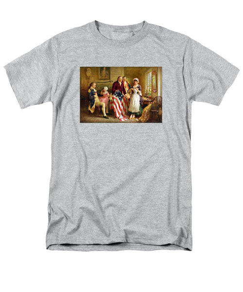 Betsy Ross And General George Washington - Men's T-Shirt  (Regular Fit)