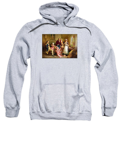 Betsy Ross And General George Washington - Sweatshirt