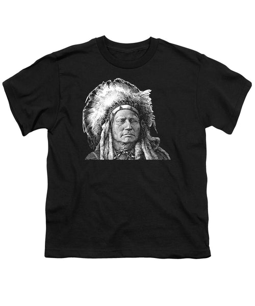 Chief Running Antelope - Native American History - Youth T-Shirt