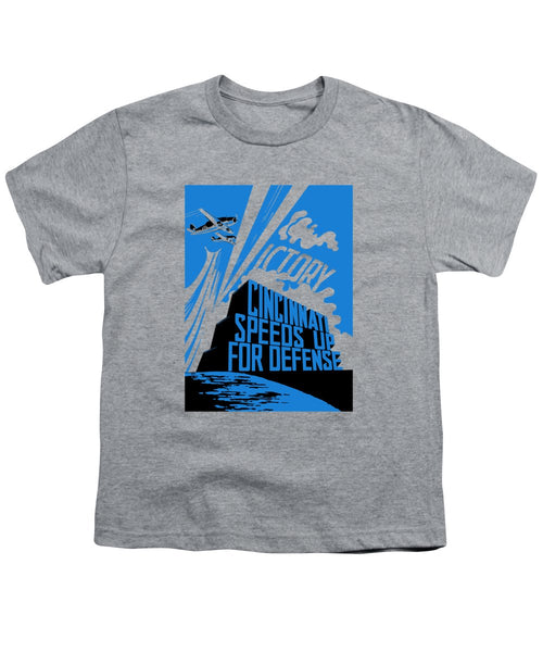 Cincinnati Speeds Up For Defense - WW2 - Youth T-Shirt