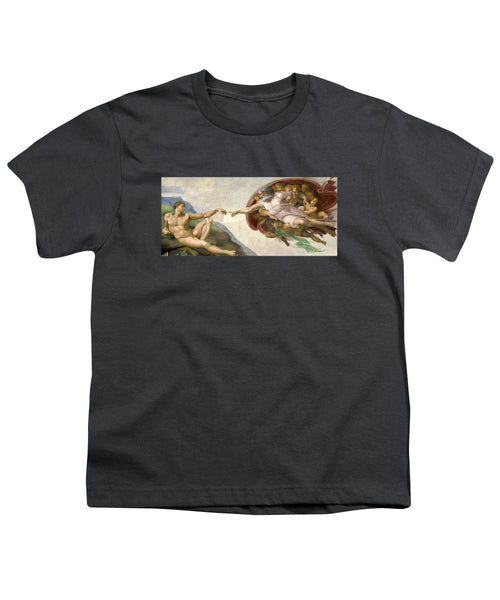 Creation Of Adam - Painted By Michelangelo - Youth T-Shirt