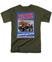 Dish It Out With The Navy - Men's T-Shirt  (Regular Fit)