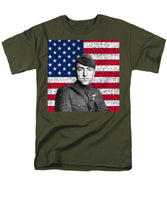 Eddie Rickenbacker and The American Flag - Men's T-Shirt  (Regular Fit)