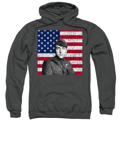 Eddie Rickenbacker and The American Flag - Sweatshirt