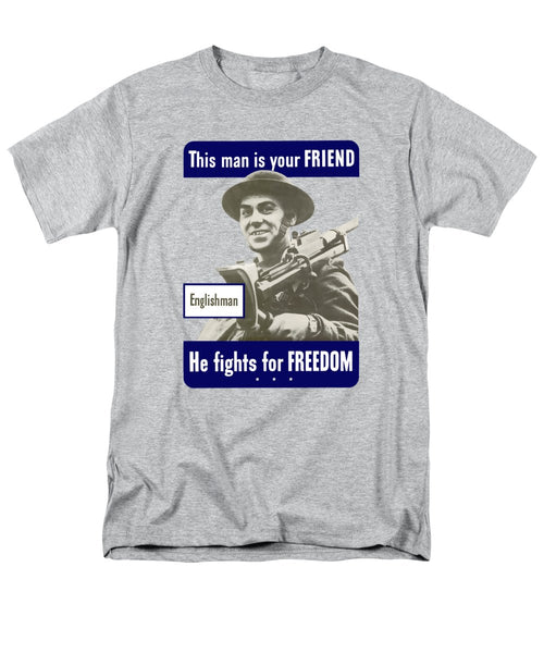 Englishman - This Man Is Your Friend - Men's T-Shirt  (Regular Fit)