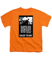 Enlist To-day - Lord Kitchener  - Youth T-Shirt