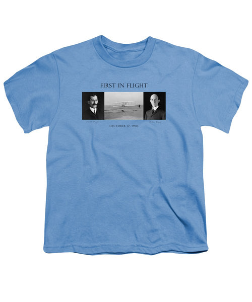 First In Flight - The Wright Brothers - Youth T-Shirt