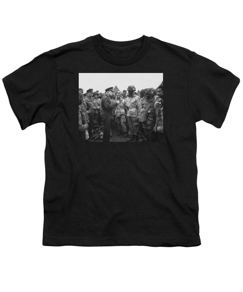 General Eisenhower On D-Day - Youth T-Shirt