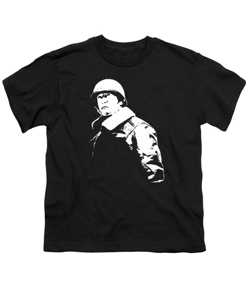 General George Patton - Black And White - Youth T-Shirt