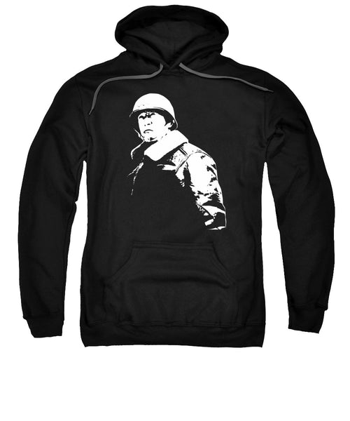 General George Patton - Black And White - Sweatshirt