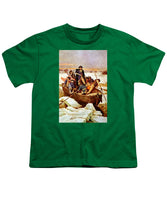 General Washington Crossing The Delaware River - Youth T-Shirt