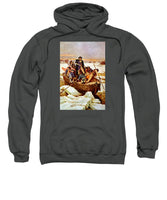General Washington Crossing The Delaware River - Sweatshirt