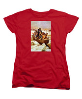 General Washington Crossing The Delaware River - Women's T-Shirt (Standard Fit)