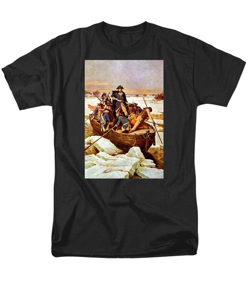 General Washington Crossing The Delaware River - Men's T-Shirt  (Regular Fit)